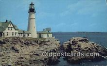 lgh200171 - Portland Head Light, First Lighthouse Portland, OR, USA Postcard Post Cards Old Vintage Antique