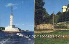 lgh200178 - Lighthouse Mackinaw City, MI, USA Postcard Post Cards Old Vintage Antique