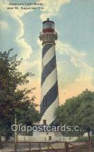 lgh200183 - Anastasia Light House St Augustine, FL, USA Postcard Post Cards Old Vintage Antique