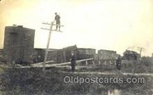 lin001006 - Utility Pole Workers, Telephone, Electric, Elecrical Linemen, Real Photo Postcard Postcards