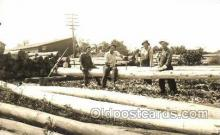 lin001008 - Utility Pole Workers, Telephone, Electric, Elecrical Linemen, Real Photo Postcard Postcards
