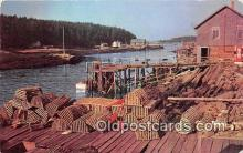 lob001041 - Maine Fishing Village  Postcard Post Card