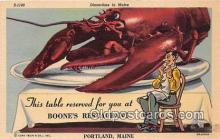 lob001069 - Boone's Restaurant Portland, Maine Postcard Post Card