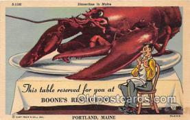 lob001069 - Boone's Restaurant Portland, Maine Postcard Post Card