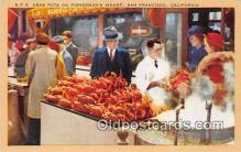 lob001078 - Crab Pots, Fisherman's Wharf San Francisco, California Postcard Post Card