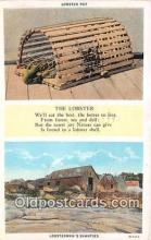 lob001089 - Lobster Pot Lobsterman's Shanties Postcard Post Card