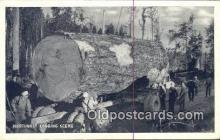 log001056 - Northwest Logging Scene  Postcard Post Cards Old Vintage Antique