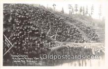 Real Photo - Log Decks, Edward Hines Lbr Co