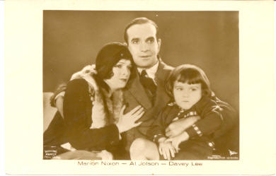 mov009006 - Marion Nixon, Al Jolson, Davey Lee Actor / Actress Postcard Post Card Old Vintage Antique Movie Star