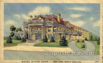 MTL001011 - Hotel Queen Anne, New Bern, NC Hotel, Motel Postcard Postcards