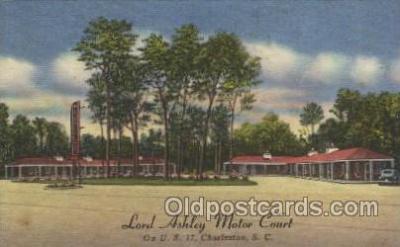 MTL001073 - Lord Ashley Motor Court, Charleston, S.C. Motel Hotel Postcard Postcards