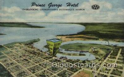 MTL001075 - The prince George Hotel, Georgetown, South Carolina, USA Motel Hotel Postcard Postcards