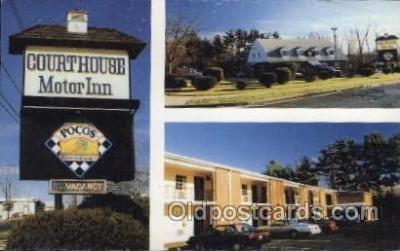 MTL001078 - Court House Motor Inn, Doylestown, PA., USA Motel Hotel Postcard Postcards