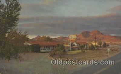 MTL001079 - Antelope Lodge Motel, Alpine, Texas, USA Motel Hotel Postcard Postcards