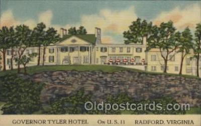 MTL001083 - Governor Tyler Hotel, Radford, Virginia, USA Motel Hotel Postcard Postcards