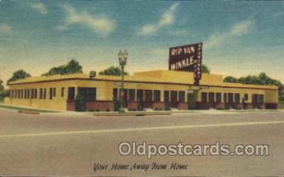 MTL001096 - Rip van winkle Apartment Motel, Los Angeles, California, Usa Motel Hotel Postcard Postcards