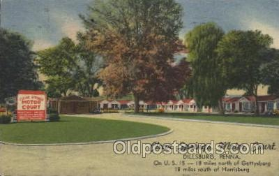 MTL001185 - Clear Springs Motor Court, Dillsburg, Penna, USA Motel Hotel Postcard Postcards