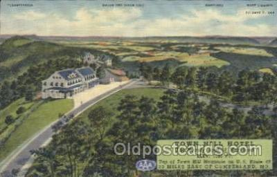 MTL001230 - Town Hill Hotel, Little Orleans, Near Cumberland Maryland, Md, USA Motel Hotel Postcard Postcards