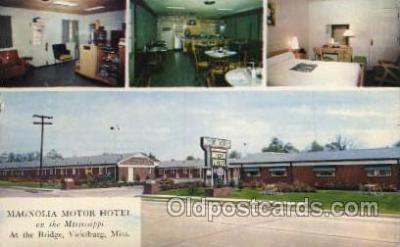 MTL001247 - Magnolla Motor Hotel, Vicksburg, Mississippi, Miss, USA Motel Hotel Postcard Postcards