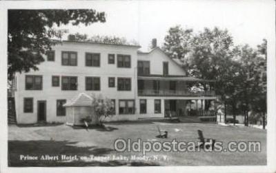 MTL001259 - Prince Albert Hotel on Tupper Lake, Moody, New York, USA Motel Hotel Postcard Postcards
