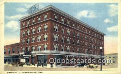 MTL001263 - Grand Hotel, Chattanooga, TN, USA Motel Hotel Postcard Post Card Old Vintage Antique