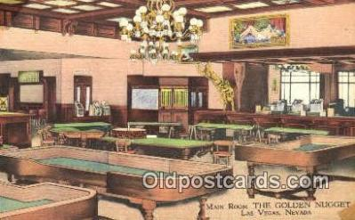 MTL001265 - The Golden Nugget, Las Vegas, NV, USA Motel Hotel Postcard Post Card Old Vintage Antique