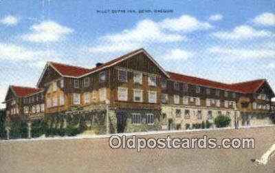 MTL001275 - Pilot Butte Inn, Bend, OR, USA Motel Hotel Postcard Post Card Old Vintage Antique