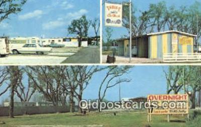 MTL001280 - Trailer Court, New Orleans, LA, USA Motel Hotel Postcard Post Card Old Vintage Antique