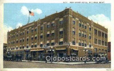 MTL001281 - New Grand Hotel, Billings, MT, USA Motel Hotel Postcard Post Card Old Vintage Antique