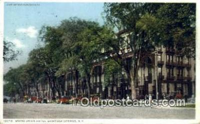 MTL001285 - Grand Union Hotel, Saratoga Springs, NY, USA Motel Hotel Postcard Post Card Old Vintage Antique
