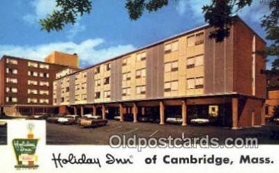MTL001329 - Holiday Inn, Cambridge, MA, USA Motel Hotel Postcard Post Card Old Vintage Antique