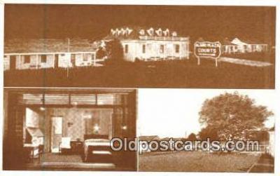 MTL001370 - Alamo Plaza Hotel Court, Nashville, TN, USA Motel Hotel Postcard Post Card Old Vintage Antique