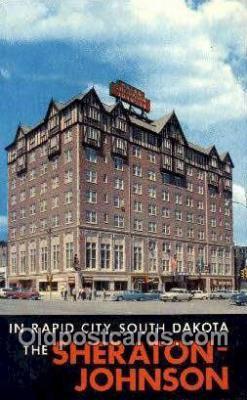 MTL001396 - Sheraton Johnson, Rapid City, SD, USA Motel Hotel Postcard Post Card Old Vintage Antique