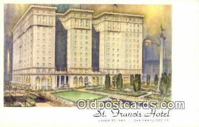 MTL001417 - St. Francis Hotel, San Francisco, USA Motel Hotel Postcard Post Card Old Vintage Antique