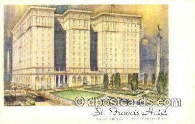 MTL001418 - St. Francis Hotel, San Francisco, USA Motel Hotel Postcard Post Card Old Vintage Antique