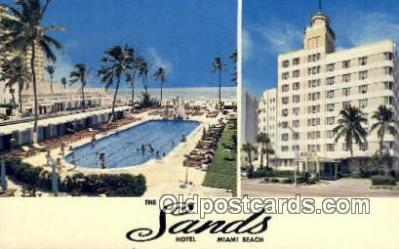 MTL001439 - The Sands Hotel, Miami Beach, FL, USA Motel Hotel Postcard Post Card Old Vintage Antique
