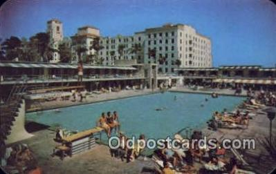 MTL001441 - Hollywood Beach Hotel, FL, USA Motel Hotel Postcard Post Card Old Vintage Antique