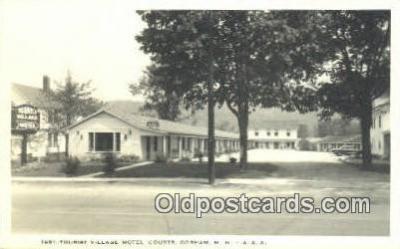 MTL001471 - Tourist Village Motel, Gorham, NH, USA Motel Hotel Postcard Post Card Old Vintage Antique