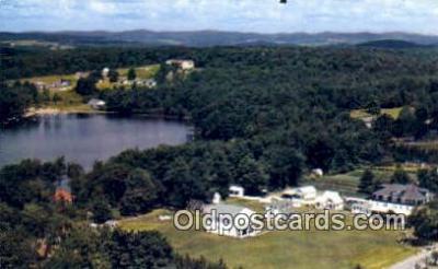 MTL001477 - The Lake Side, Livingston Manor, NY, USA Motel Hotel Postcard Post Card Old Vintage Antique