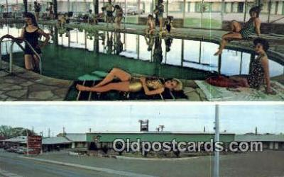 MTL001513 - Holiday Motel, Lordsburg, NM, USA Motel Hotel Postcard Post Card Old Vintage Antique
