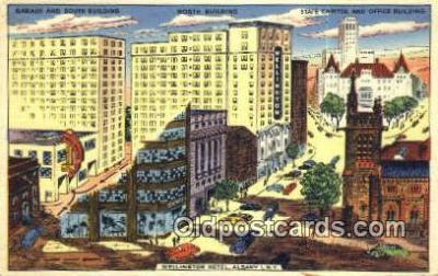 MTL001516 - Wellington Hotel, Albany, NY, USA Motel Hotel Postcard Post Card Old Vintage Antique