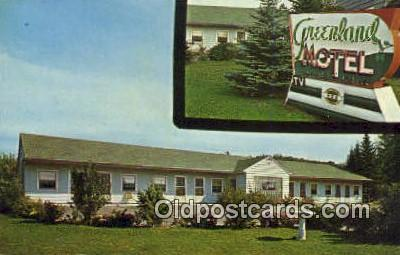 MTL001571 - Greenland Motel, Munising, MI, USA Motel Hotel Postcard Post Card Old Vintage Antique