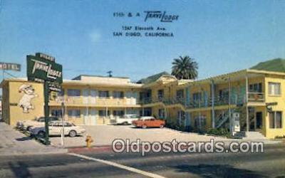 MTL001576 - 11th & A Travelodge, San Diego, CA, USA Motel Hotel Postcard Post Card Old Vintage Antique