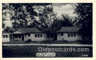 MTL001604 - All States Village, Columbia, MO, USA Motel Hotel Postcard Post Card Old Vintage Antique