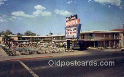 MTL001681 - City Center Motel, Las Vegas, NV, USA Motel Hotel Postcard Post Card Old Vintage Antique