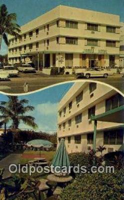 MTL001721 - James Hotel, Miami Beach, FL, USA Motel Hotel Postcard Post Card Old Vintage Antique