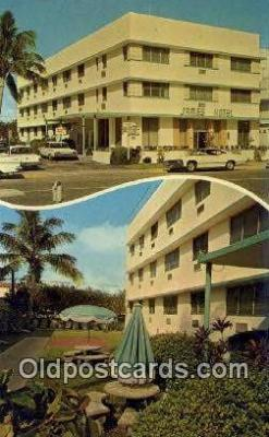 MTL001724 - James Hotel, Miami Beach, FL, USA Motel Hotel Postcard Post Card Old Vintage Antique