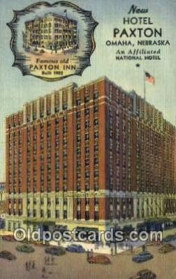 MTL001748 - Hotel Paxton, Omaha, NE, USA Motel Hotel Postcard Post Card Old Vintage Antique