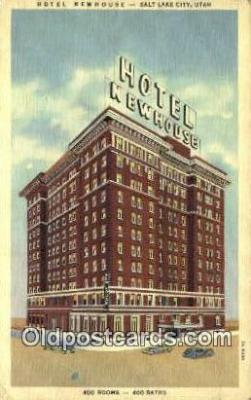 MTL001765 - Hotel Newhouse, Salt Lake City, UT, USA Motel Hotel Postcard Post Card Old Vintage Antique