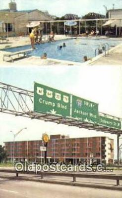 MTL001771 - Quality Courts Motel West, Memphis, TN, USA Motel Hotel Postcard Post Card Old Vintage Antique